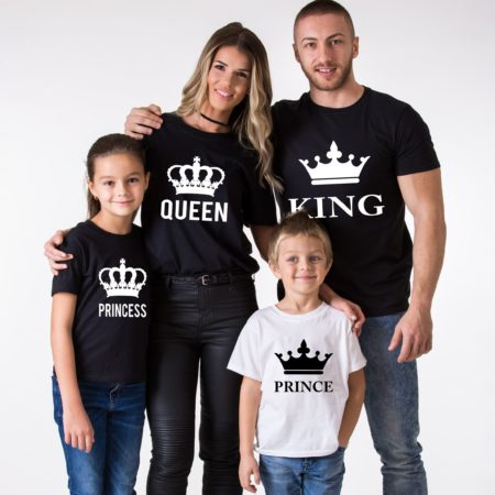 King Queen Prince Princess Family Shirts, Matching Family Shirts