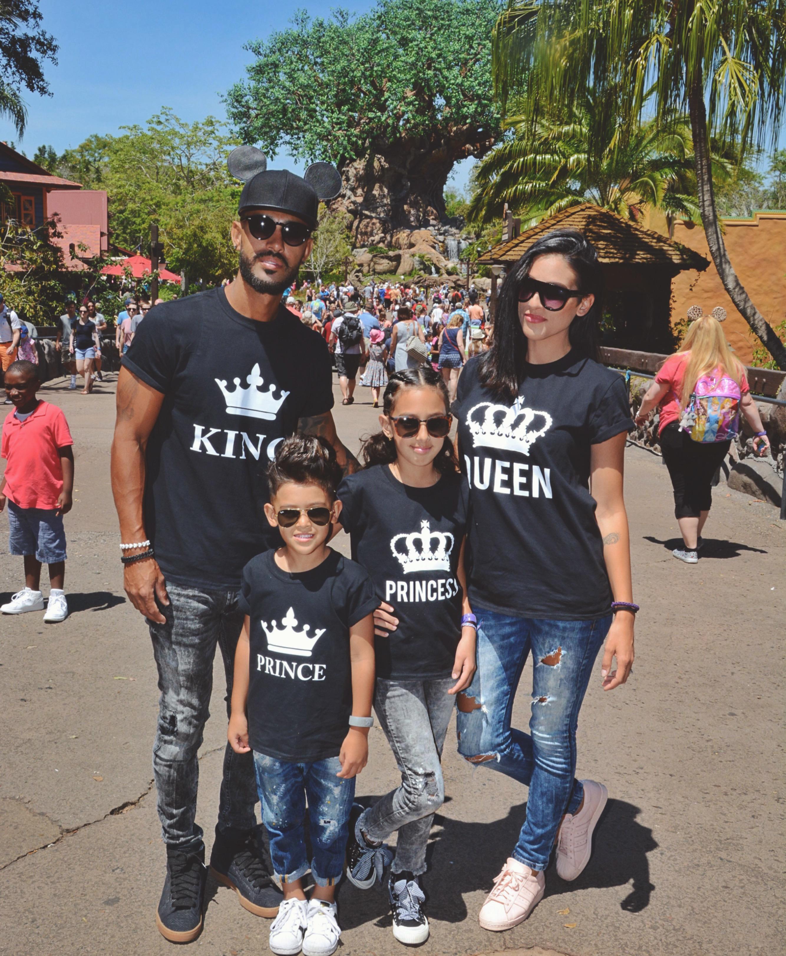 d25037ff King Queen Prince Princess Family Shirts, Matching Family Shirts