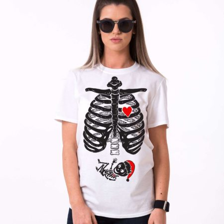 Christmas Maternity Shirt, Skeleton Shirt, Maternity Shirt