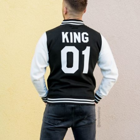 King 01 Varsity Jacket, Letterman Jacket, College Jacket, UNISEX