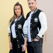 Varsity Jackets, King 01, Queen 01, Front