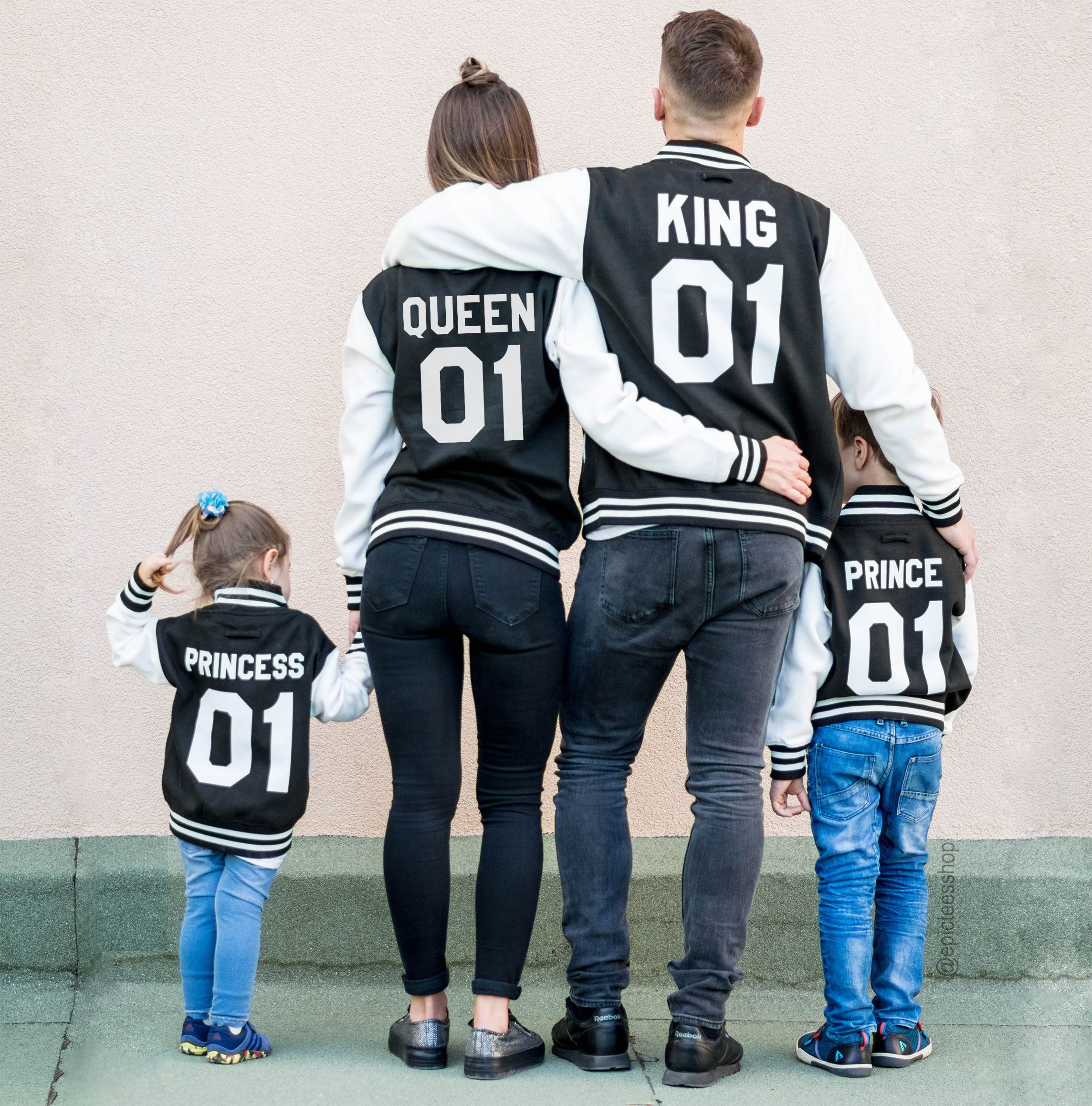 Family Varsity Jackets, King 01, Queen 01, Prince 01 ...