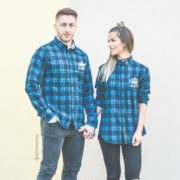 Blue Plaid Shirts, King 01, Queen 01, Front