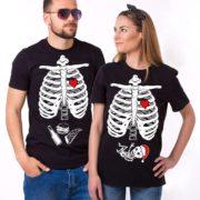 Christmas Maternity Couple Shirts, Black