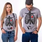 Christmas Maternity Shirts, Skeleton Shirt, Matching Couples Shirts