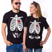 Maternity Twins, Couple Shirts, Black