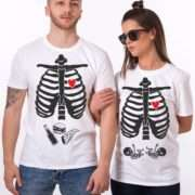 Maternity Twins Shirts, Halloween Skeleton Shirts, Matching Couples