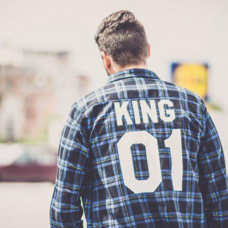 King 01 Blue Plaid Shirt, Plaid Shirt, Flannel Shirt, UNISEX