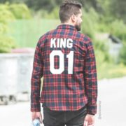 Red Plaid Shirt, King 01, Back
