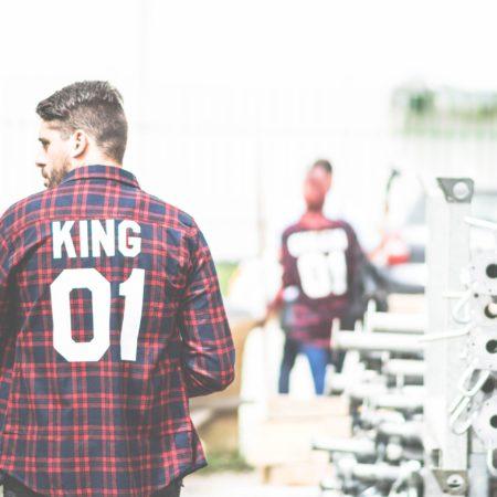 King 01 Red Plaid Shirt, Plaid Shirt, Flannel Shirt, UNISEX