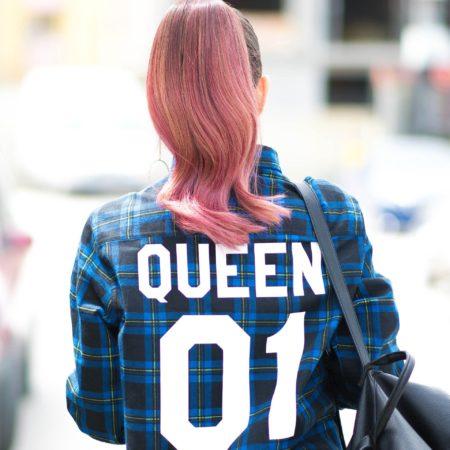 Queen 01 Blue Plaid Shirt, Flannel Shirt, Plaid Shirt, UNISEX