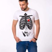 Skeleton and Food Shirt, White