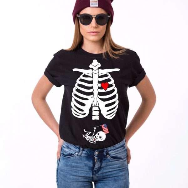 4th of July Maternity Shirt, Skeleton Shirt, Maternity Shirt