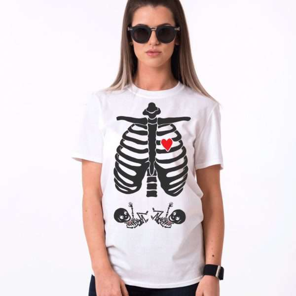 Maternity Twins Shirt, Halloween Shirt, Maternity Shirt for Twins