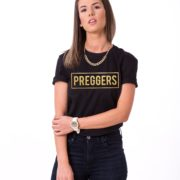 Preggers Shirt, Black/Gold