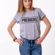 Preggers Shirt, Gray/Black