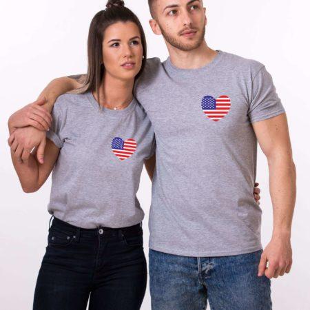 American Flag Shirts, 4th of July, Matching Couple Shirts