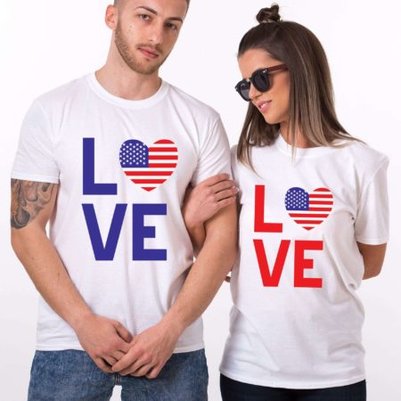4th of July Matching Shirts, Couple Shirts, LOVE Shirts