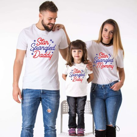 Star Spangled Family Shirts, 4th of July Shirts, UNISEX