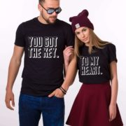You Got the Key to My Heart Shirts, Black/White