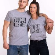 You Got the Key to My Heart Shirts, Gray/Black