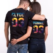 Bonnie Clyde Tropical Shirts, Matching Couples Shirts