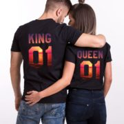 King Queen Sunset Shirts, Matching Couples Shirts