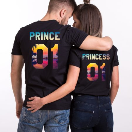 Prince and Princess Tropical Shirts, Matching Couples Shirts
