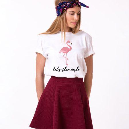 Flamingo Shirt, Let's Flamingle, Flamingo Summer Shirt, UNISEX