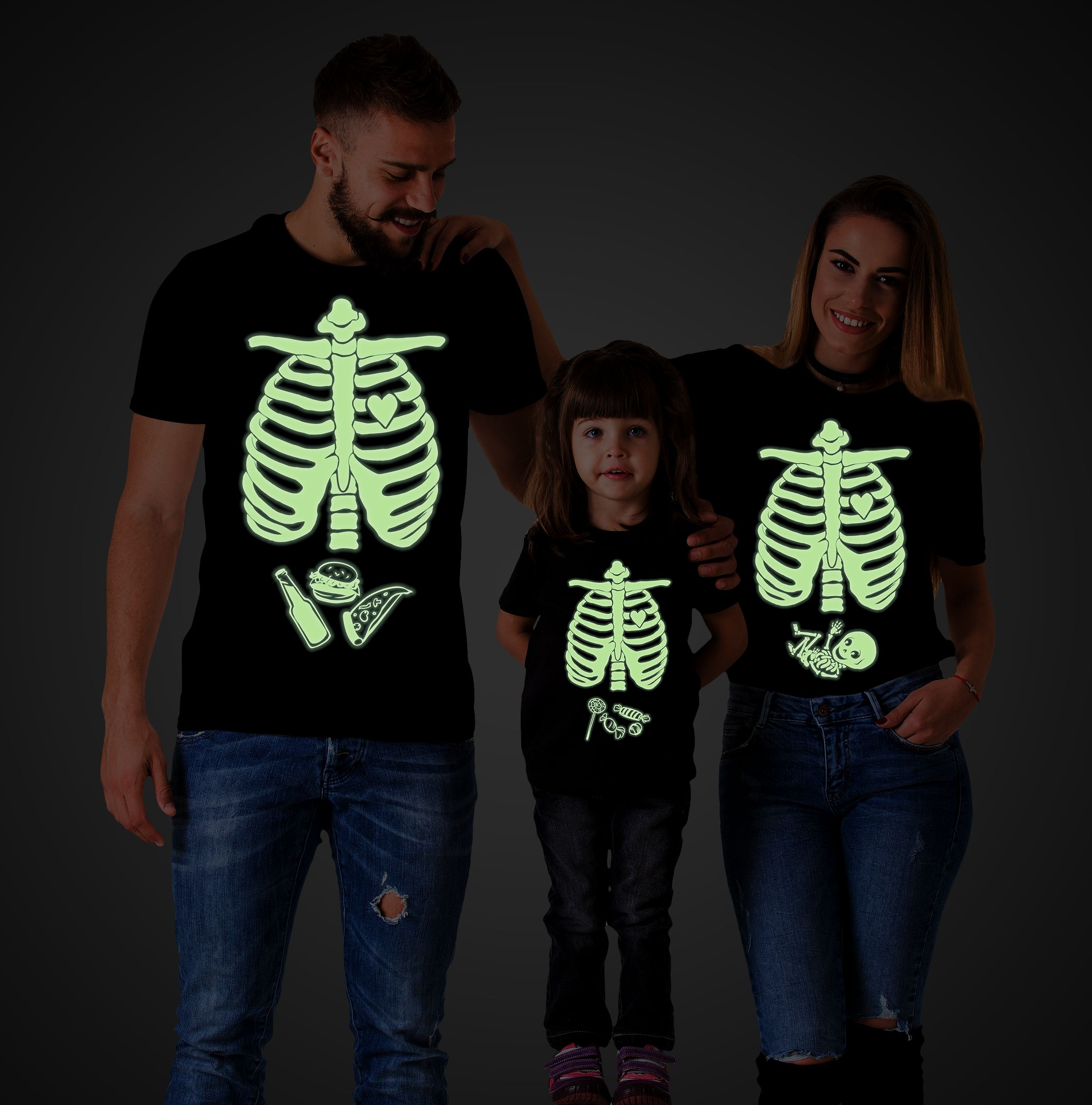 2ac0b1580f5bd Halloween Family Shirts, Skeleton Shirts, Maternity Shirt