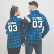 Bonnie 03 Clyde 03 Plaid Shirts, Matching Couple Shirts