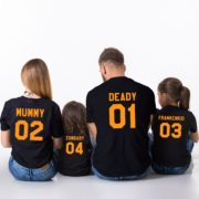 Halloween Family Shirts, Deady 01 Mummy 02 Frankenkid 03 Zombaby 04