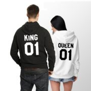 King Queen Hoodies, Couples Hoodies, Matching Couples Hoodies