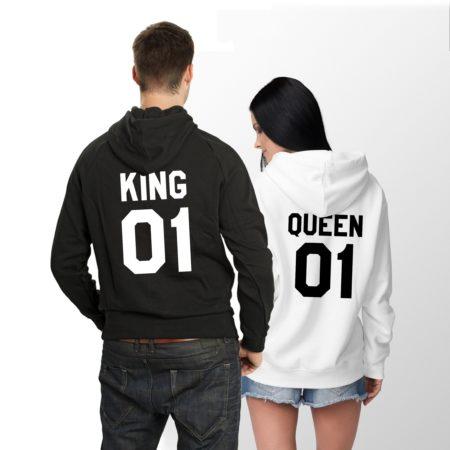 King Queen Hoodies, Couples Hoodies, Matching Couples Hoodies