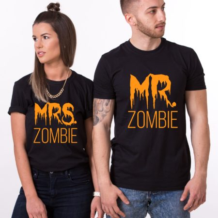 Mr Mrs Zombie, Halloween Shirts, Matching Couples Shirts
