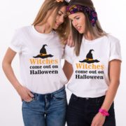 Best Friends Witch Shirts, Witches Come Out on Halloween