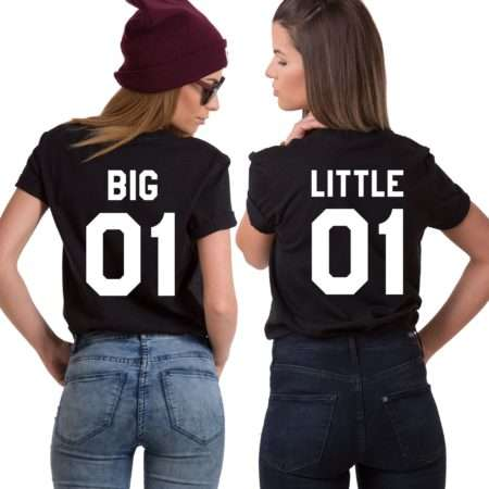 Big 01 Little 01, Matching Best Friends Shirts, UNISEX