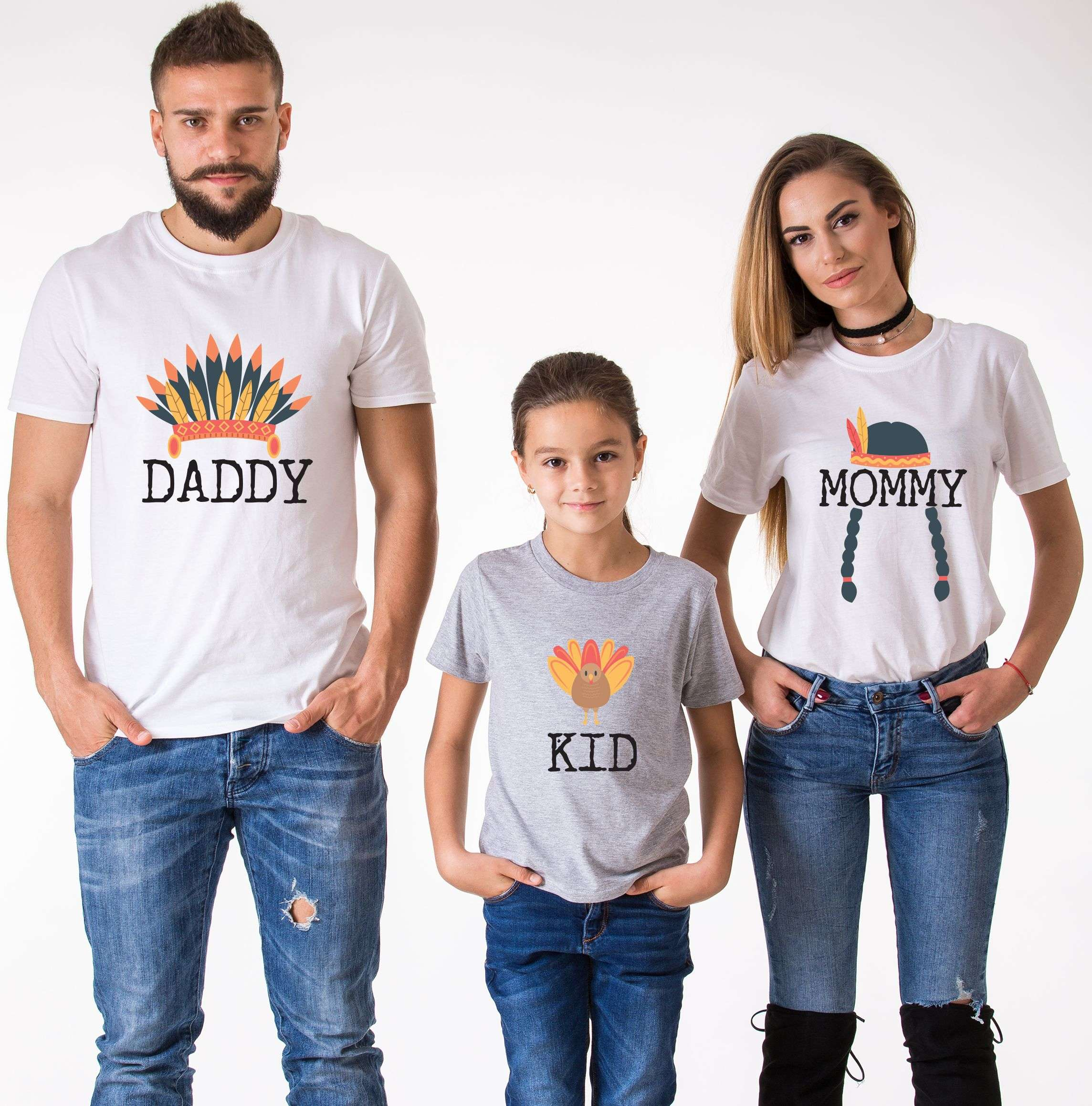 Thanksgiving Family, Mommy Daddy Baby, Matching Family Shirts