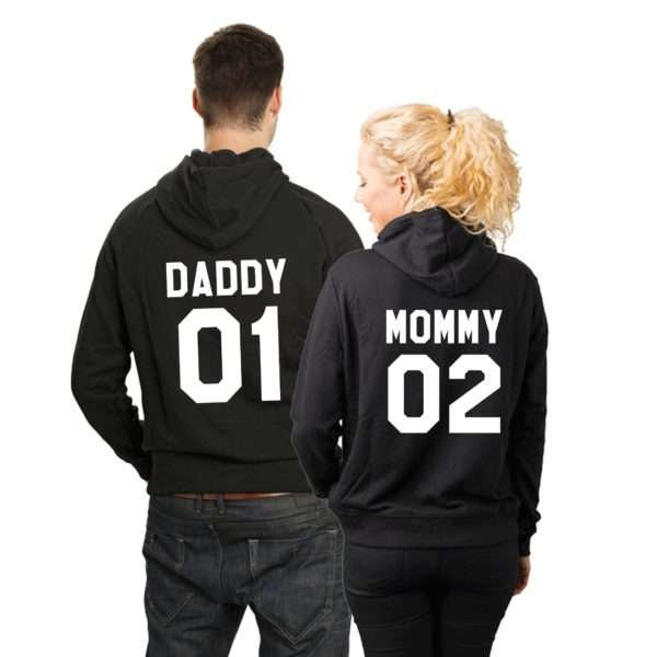 Daddy 01 Mommy 02 Hoodies