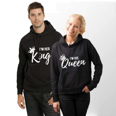 I'm Her King His Queen Hoodies