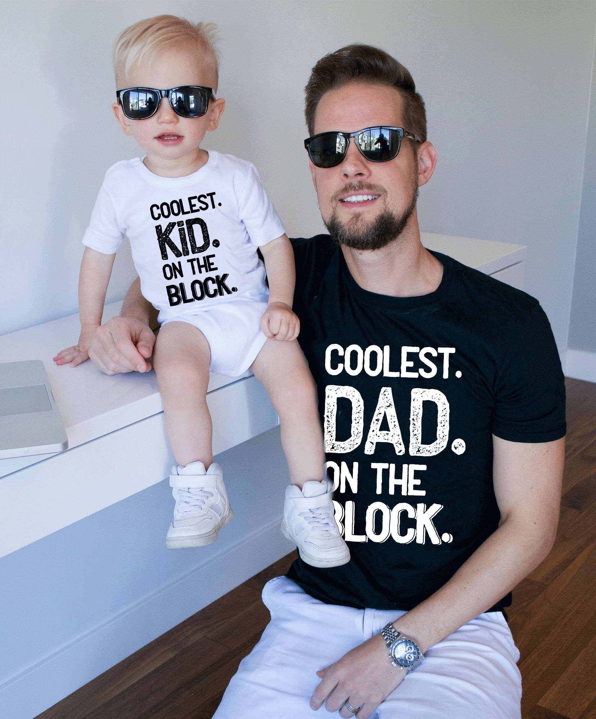 2cc850d5 Coolest Dad on the Block shirt, Matching Daddy and Me Shirts