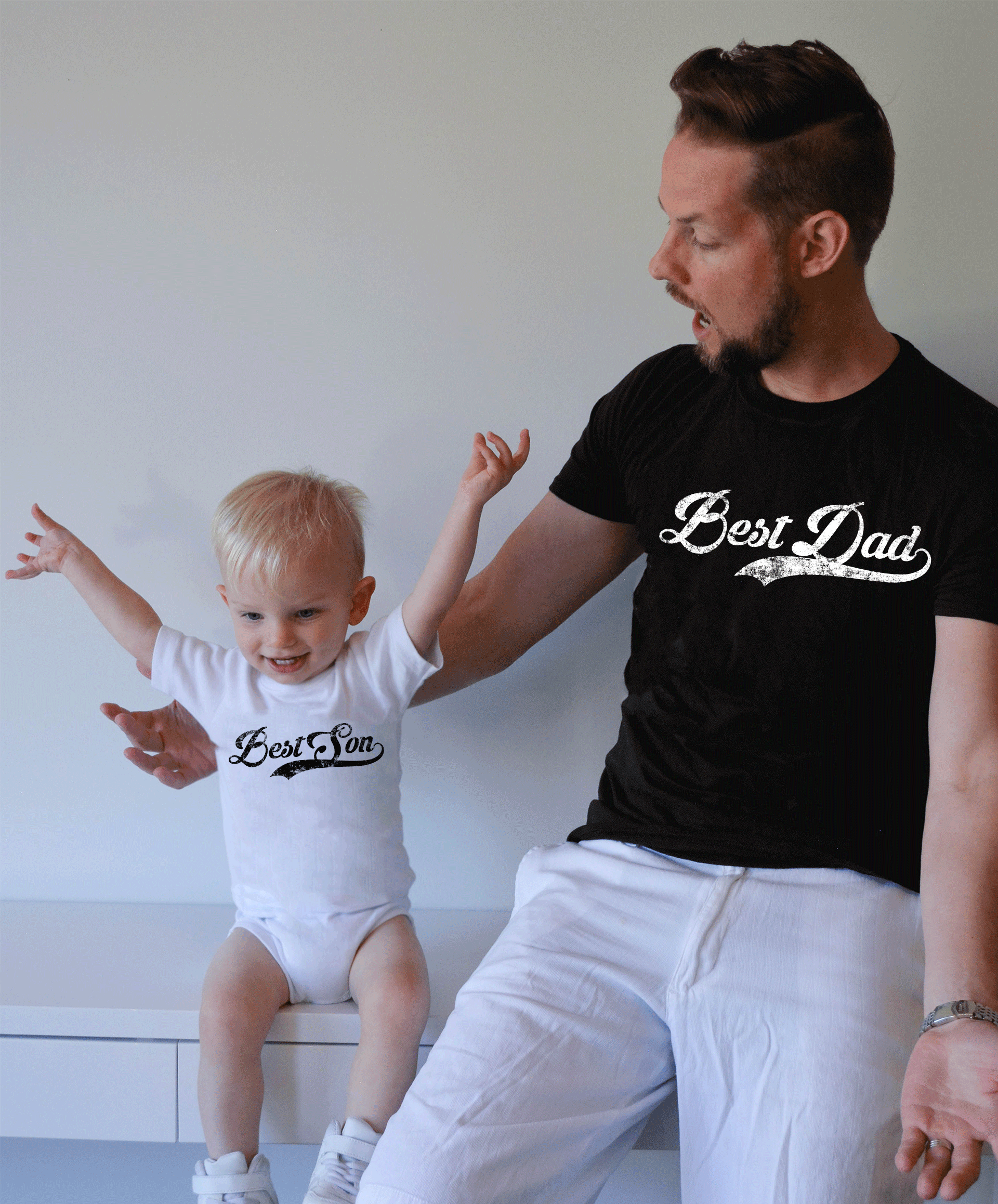 be4c54647 Best Dad Best Son Shirts, Matching Daddy and Me Shirts