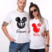 Bride Groom Mickey, Matching Couples Shirts, UNISEX