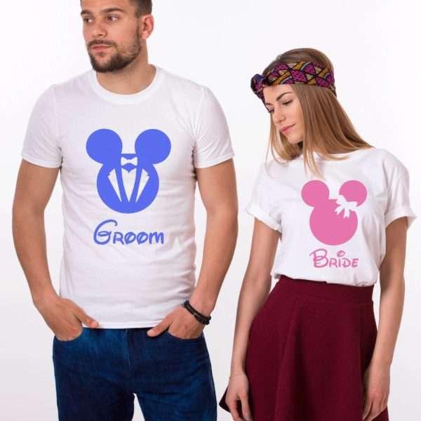 Groom Bride Mickey, Matching Couples Shirts, UNISEX