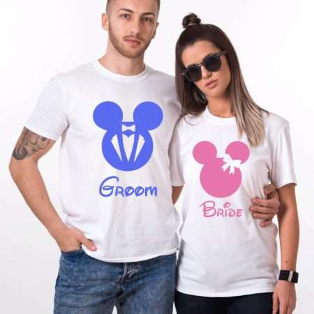 Groom Bride Mickey, Matching Couples Shirts, UNISEX