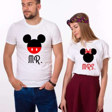 Mr Mrs Mickey Shirts, Matching Couples Shirts, Anniversary Shirts