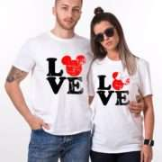 LOVE Mickey Shits, Matching Couples Shirts, UNISEX