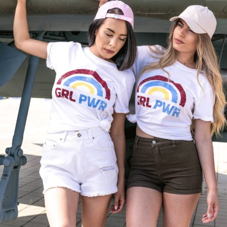 GRL PWR Matching Shirts, Feminist Shirts, Matching Best Friends Shirts