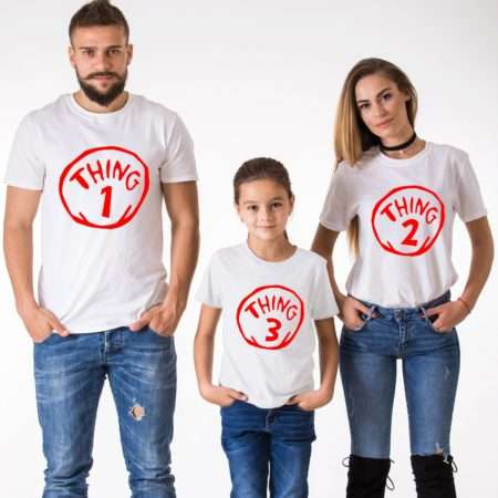 Thing 1 Thing 2 Shirts, Thing 3, Matching Family Shirts