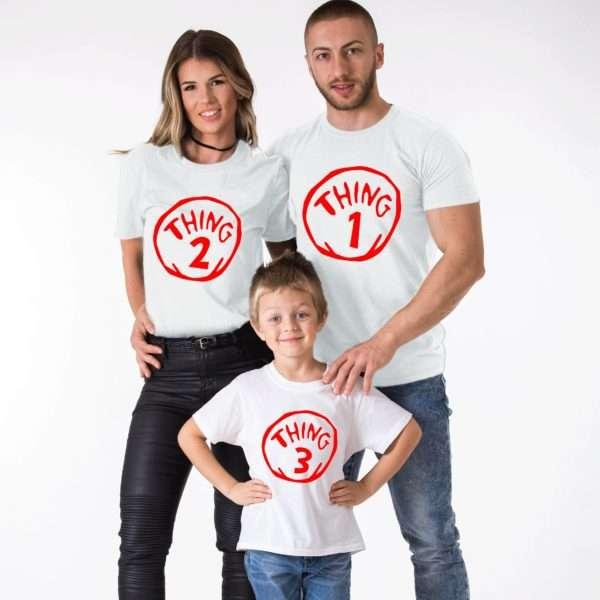 Thing 1 Thing 2 Shirts, Thing 3, Matching Family Shirts